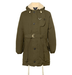 Nigel Cabourn Antarctic Shearling-Lined L27 Ventile Down Parka