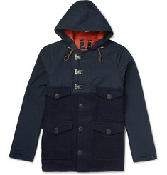 Nigel Cabourn Cameraman Converse Canvas and Waxed  Harris Tweed Hooded Jacket