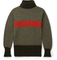Nigel Cabourn Striped Wool Rollneck Sweater