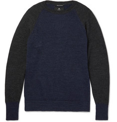 Nigel Cabourn Two-Tone Boiled Wool Sweater