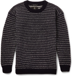 Nigel Cabourn Two-Tone Wool Sweater
