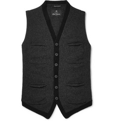 Nigel Cabourn Mélange Boiled Wool Sweater Vest