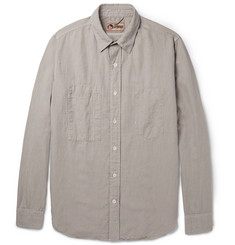 Nigel Cabourn Slim-Fit Cotton and Linen-Blend Shirt