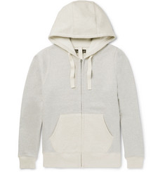 Nigel Cabourn Two-Tone Fleece-Back Cotton-Jersey Zip-Up Hoodie