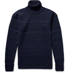 S.N.S. Herning Fisherman Textured Virgin and Merino Wool-Blend Rollneck Sweater