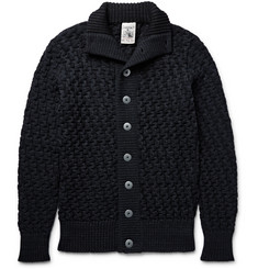 S.N.S. Herning Stark Basketweave Virgin and Merino Wool-Blend Cardigan