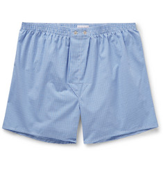 Derek Rose - Gingham Cotton Boxer Shorts