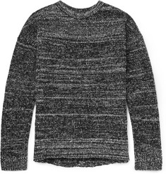 John Elliott Mélange Wool-Blend Bouclé Sweater