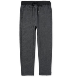 John Elliott Shell-Trimmed Cropped Cotton-Blend Trousers