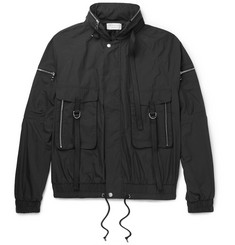 John Elliott Waxed Cotton-Blend Bomber Jacket