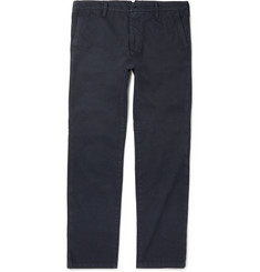 Eidos Morgan Slim-Fit Slub Cotton and Linen-Blend Chinos