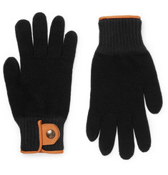 Oliver Spencer Cross Country Leather-Trimmed Wool-Blend Gloves