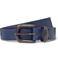Oliver Spencer 2.5cm Blue Coniston Leather Belt