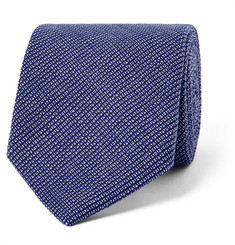 Oliver Spencer 8cm Lupin Cotton Tie