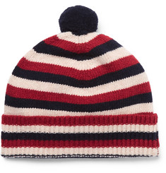 Oliver Spencer Striped Wool Bobble Hat