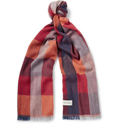 Oliver Spencer Checked Virgin Wool-Blend Scarf
