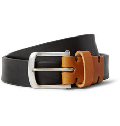 Oliver Spencer 2.5cm Black Manor Leather Belt
