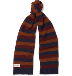 Oliver Spencer Ola Striped Wool-Blend Scarf