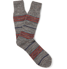 Anonymous Ism Blanket Striped Mélange Knitted Socks