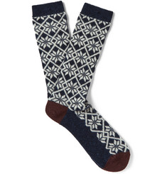 Anonymous Ism Jacquard-Knit Socks