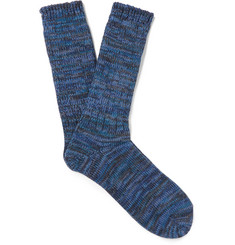 Anonymous Ism Mélange Cotton-Blend Socks