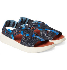 Malibu - + Missoni Canyon Two-Tone Woven Faux Leather Sandals