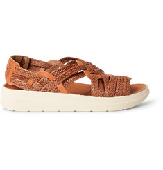 Malibu + Missoni Canyon Two-Tone Woven Faux Leather Sandals