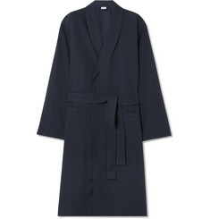 Zimmerli Satin-Trimmed Cotton-Twill Robe
