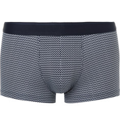 Sunspel Printed Stretch-Cotton Boxer Briefs