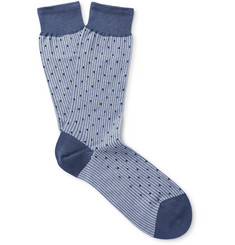 Sunspel Mercerised Cotton-Blend Jacquard Socks
