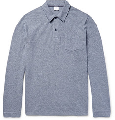 Sunspel - Raschel Mélange Cotton-Mesh Polo Shirt