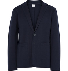 Sunspel Blue Milano Merino Wool Blazer