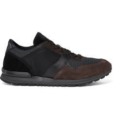 Tod's Panelled Suede, Leather and Mesh Sneakers