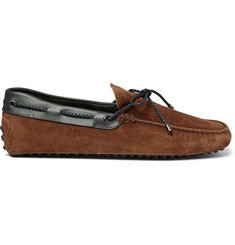 Tod's Gommino Leather-Trimmed Suede Driving Shoes