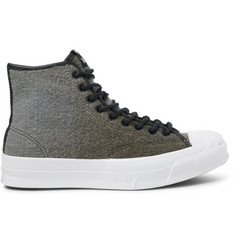 Converse + Woolrich Jack Purcell Signature Wool High-Top Sneakers