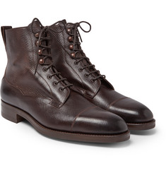 Edward Green - Galway Cap-Toe Grained-Leather Boots