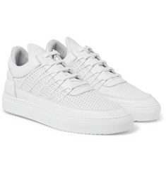 Filling Pieces - Mesh and Leather Sneakers