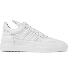 Filling Pieces Mesh and Leather Sneakers