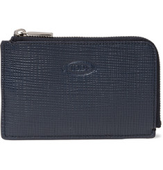 Tod's - Zip-Around Cross-Grain Leather Wallet