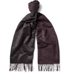 Tod's - Two-Tone Brushed-Silk Scarf