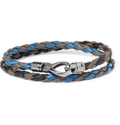 Tod's Scooby Braided Leather Wrap Bracelet
