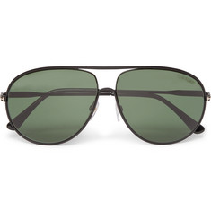 Tom Ford - Cliff Aviator-Style Metal Polarised Sunglasses
