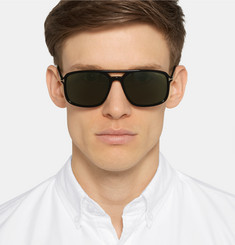 Tom Ford - Terry Aviator-Style Acetate Sunglasses