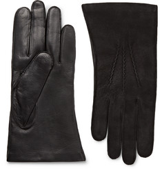 Dents Warwick Cashmere-Lined Suede and Leather Gloves
