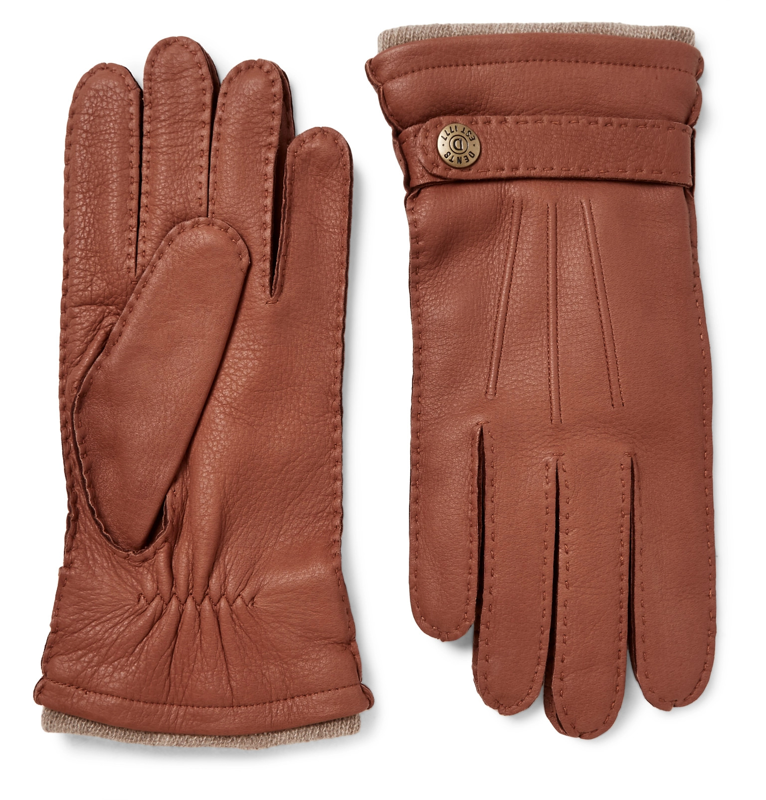 Prada mens leather gloves - Dents Gloucester Cashmere Lined Full Grain Leather Gloves