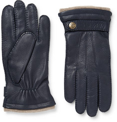 Dents Gloucester Cashmere-Lined Full-Grain Leather Gloves