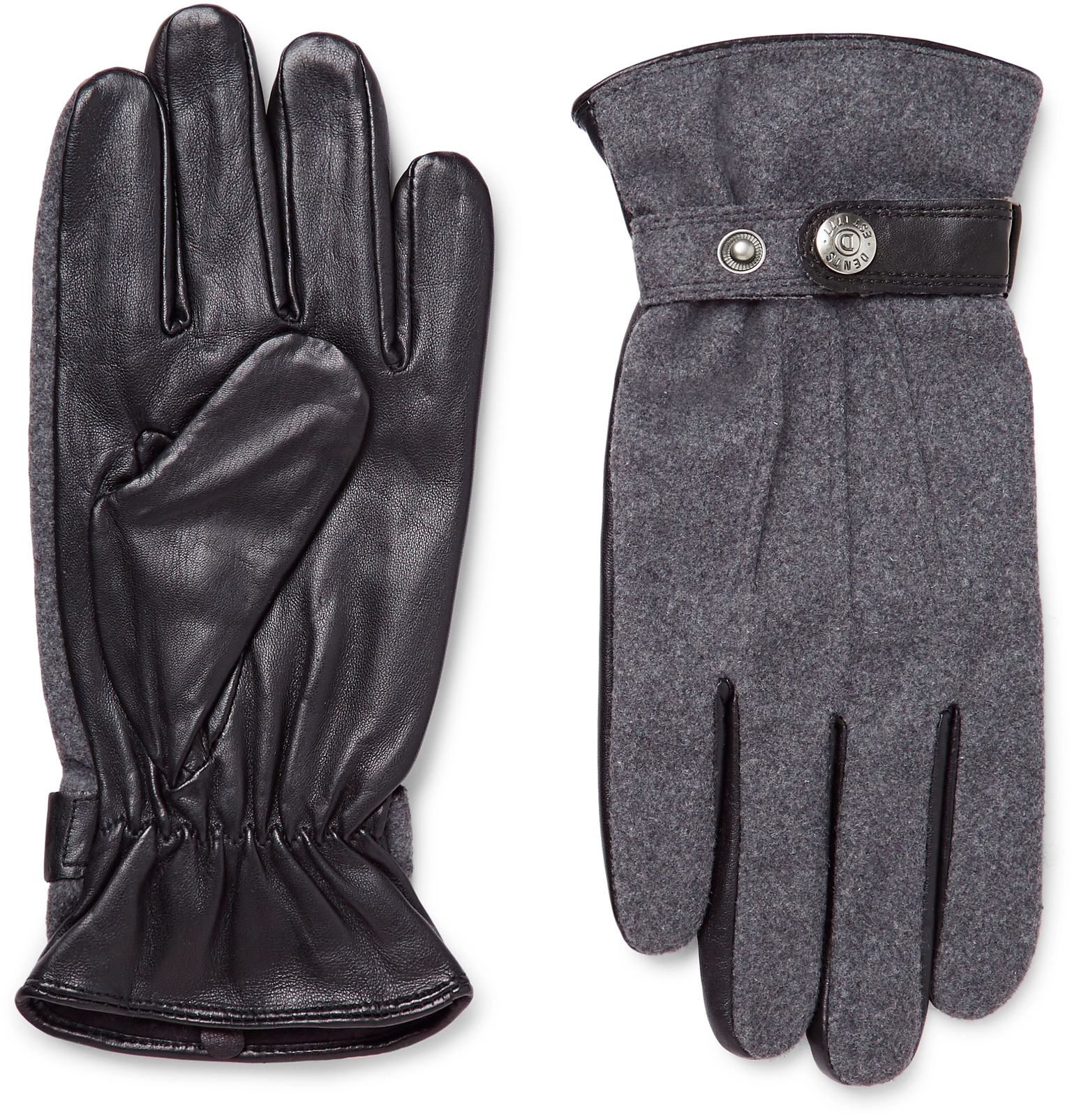 Xxl black leather gloves - Dentsguildford M Lange Flannel And Leather Gloves