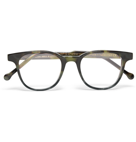 cutler and gross male cutler and gross dframe tortoiseshell acetate optical glasses dark green