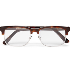 Cutler and Gross Square-Frame Tortoiseshell Acetate and Metal Optical Glasses
