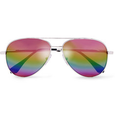 Cutler and Gross - Aviator-Style Silver-Tone Mirrored Sunglasses